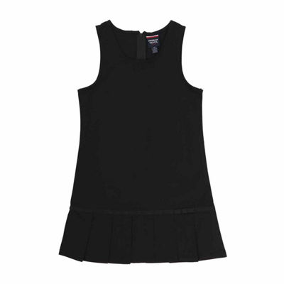 French Toast Sleeveless Pleated Hem Jumper - Big Kid Girls