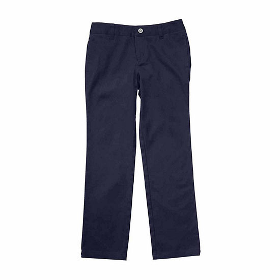 French Toast Girls Straight Flat Front Pant
