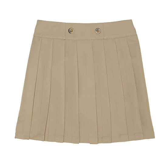 French Toast Front Button Pleated Scooter Skirt - Girls 4-20