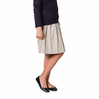 French Toast Woven Pleated Skirt - Big Kid Girls