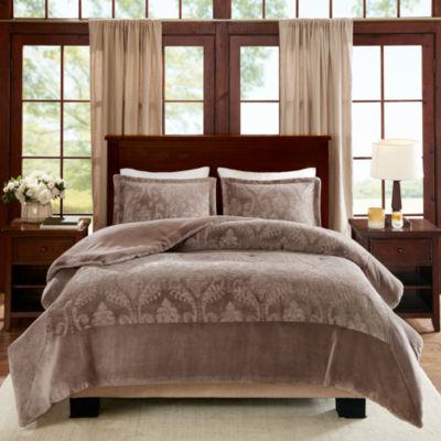 Premier Comfort Trenton Textured Plush Comforter Set