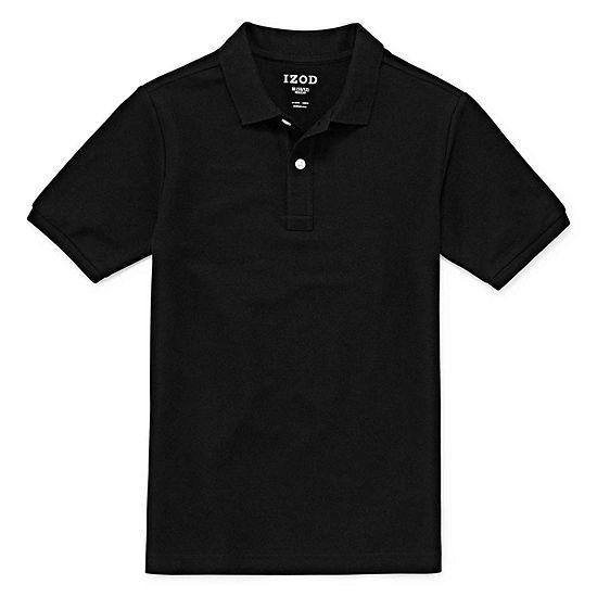 Izod Exclusive Pique Boys Spread Collar Short Sleeve Stretch Polo Shirt Preschool / Big Kid