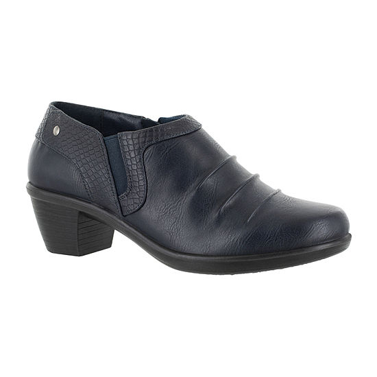 Easy Street Womens Cleo Booties Block Heel