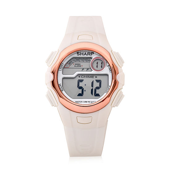 32 Degrees Sharp Unisex White Strap Watch-Shr3018jc