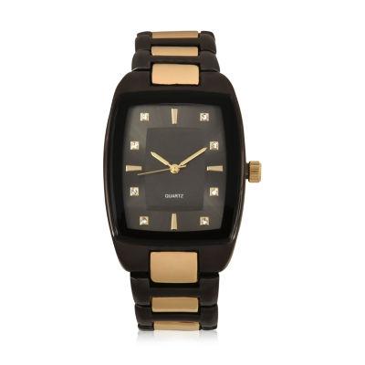 Geneva Mens Two Tone Bracelet Watch-Mac8041jc
