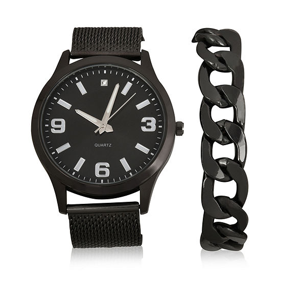 Geneva Mens 2-pc. Watch Boxed Set-Mac7040jc