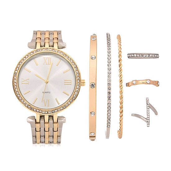 Mixit Womens Two Tone 7-pc. Watch Boxed Set-Wac7209jc