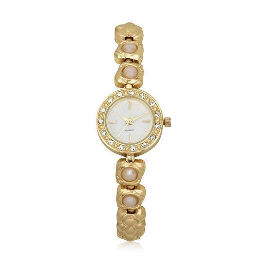Geneva Womens Gold Tone Bracelet Watch-Wac8705jc