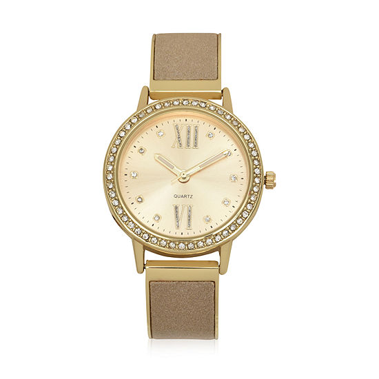 Geneva Womens Gold Tone Bracelet Watch-Wac8707jc
