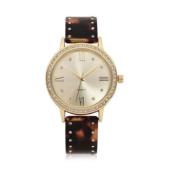 Geneva Womens Two Tone Bracelet Watch-Wac8708jc