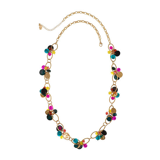 Mixit 36 Inch Cable Beaded Necklace