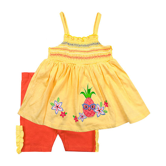 Nanette Baby Girls 2-pc. Short Set Baby