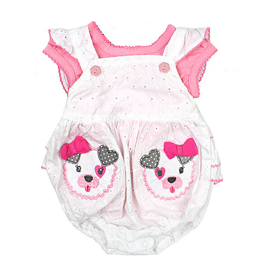 Nanette Baby Sleeveless Romper - Baby Girls