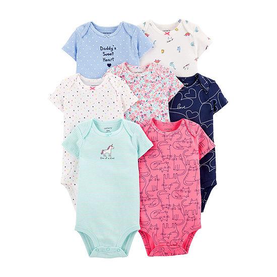Carter's Girls 7-pc. Bodysuit-Baby