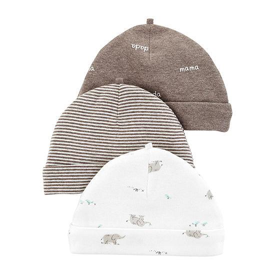 Carter's Unisex 3-pc. Baby Hat-Baby