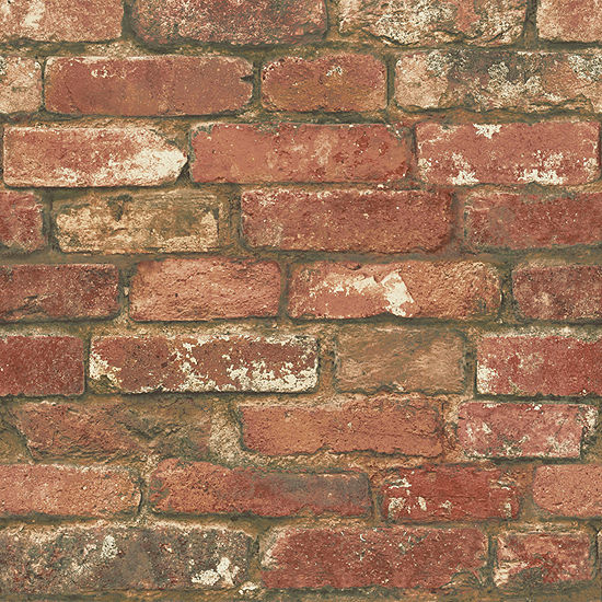 Brewster Wall West End Brick Peel And Stick Wall Decal