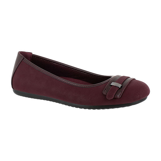 Easy Street Womens Angie Ballet Flats Round Toe