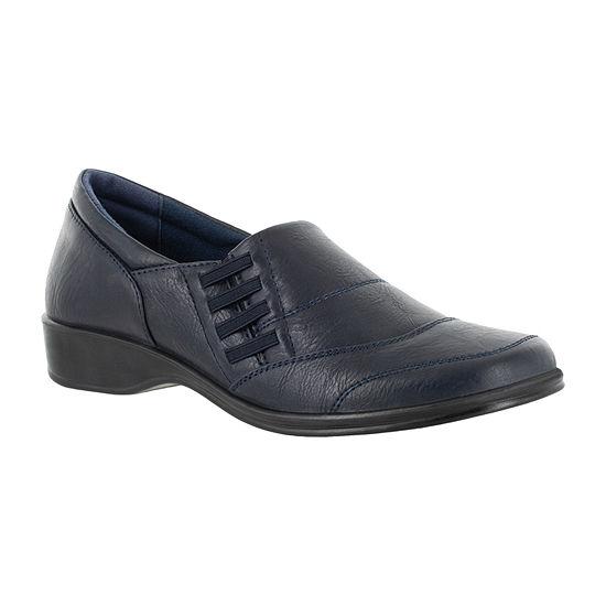 Easy Street Womens Avenue Square Toe Slip-On Shoe
