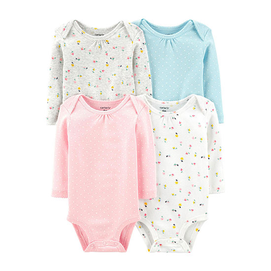 Carters 4 Pc Bodysuit Set Baby Girls