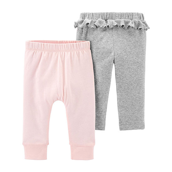 Carter's Girls Little Baby Basic 2-pc. Pull-On Pants - Baby