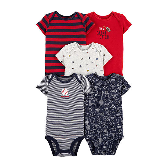 Carters 5 Pk Bodysuit Set Baby Boys