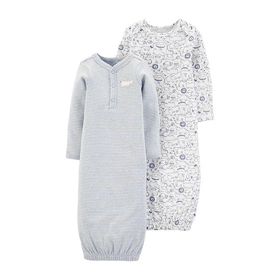 Carter's 2-pc. Boys Nightgown Long Sleeve Round Neck