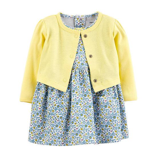 Carter's Girls Long Sleeve Floral A-Line Dress - Baby