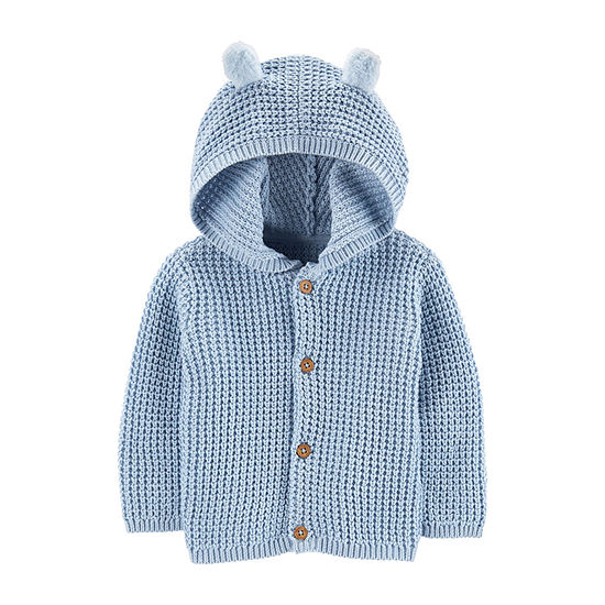 Carter's Boys Hooded Neck Long Sleeve Button Cardigan Baby