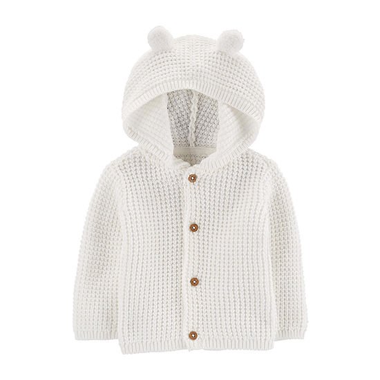 Carter's Baby Unisex Hooded Neck Long Sleeve Button Cardigan