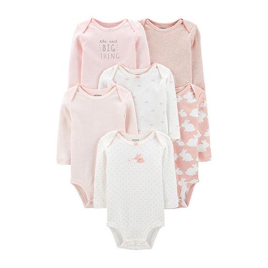 Carter's Girls 6-pc. Bodysuit-Baby