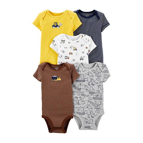 Carters 5 Pk Bodysuit Set Baby Boys
