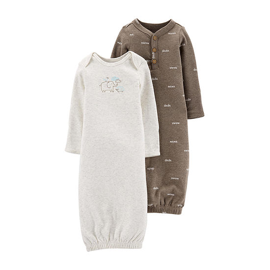 Carter's Unisex Nightgown Long Sleeve Round Neck