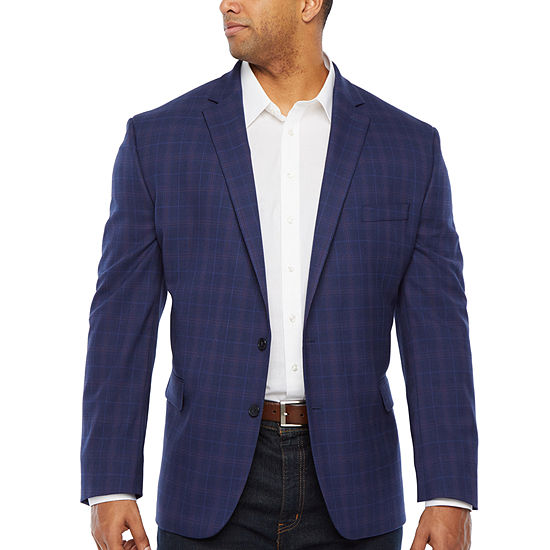 Shaquille O'Neal XLG Mens Plaid Sport Coat - Big and Tall