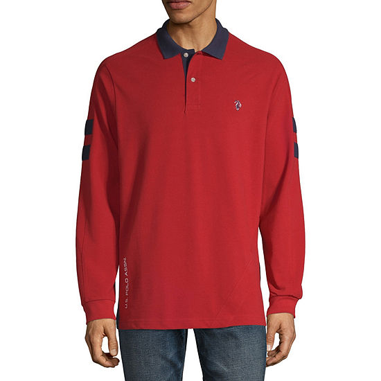 Us Polo Assn Mens Long Sleeve Polo Shirt