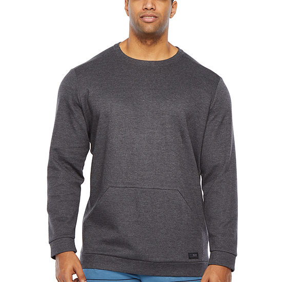 Msx By Michael Strahan Mens Crew Neck Long Sleeve Sweatshirt Big and Tall