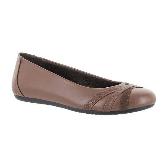 Easy Street Womens Derry Ballet Flats Round Toe