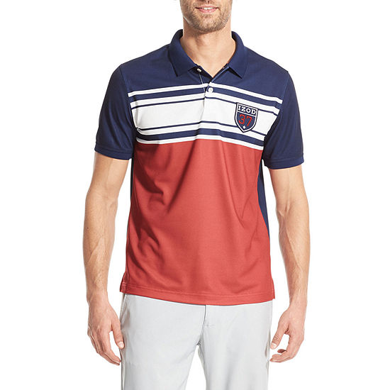 IZOD Outpost Short Sleeve Stripe Knit Shirts