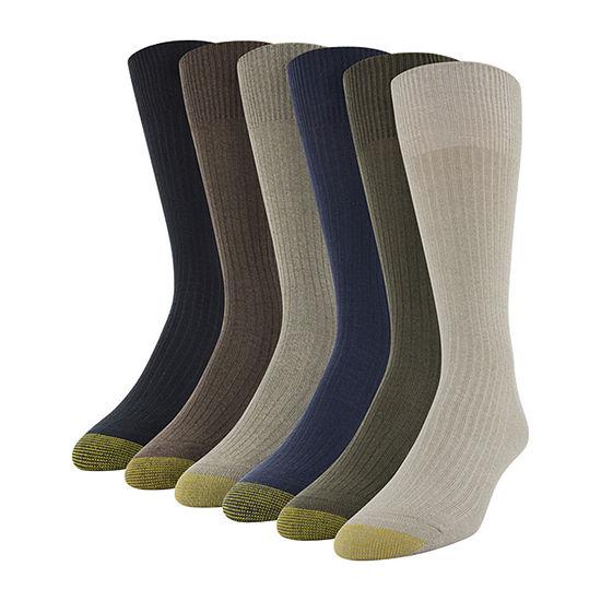 Gold Toe Mens 6 Pair Crew Socks