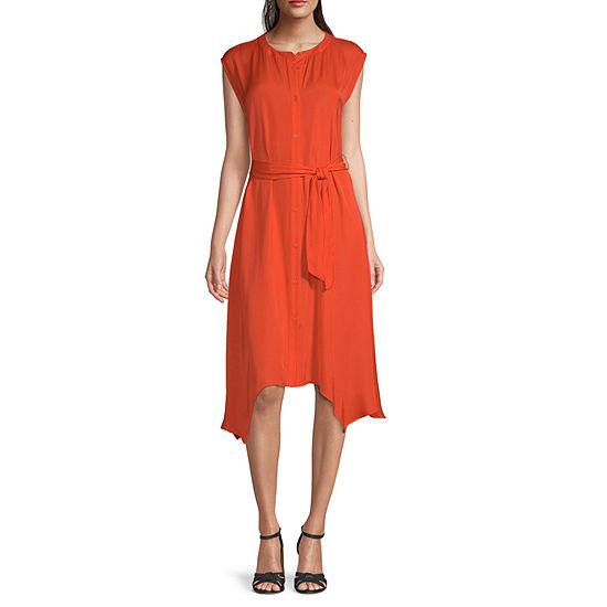 Worthington Short Sleeve A-Line Dress
