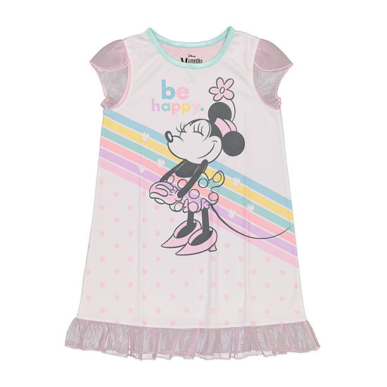Disney Toddler Girls Minnie Mouse Short Sleeve Crew Neck Nightgown