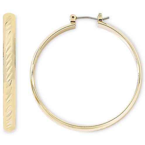 Monet® Gold-Tone Large Hoop Earrings