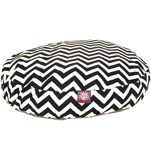 Majestic Pet Zig-Zag Round Bed