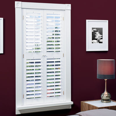 jcpenney home fauxwood plantation shutters with midrail 2 panels