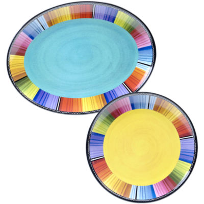 Certified International Serape Melamine 2-pc. Platter Set