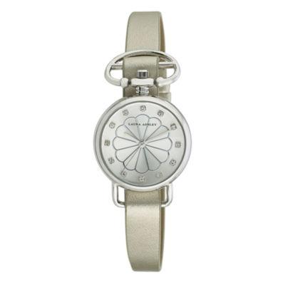Laura Ashley Womens Silver Heirloom Watch La31001Ss