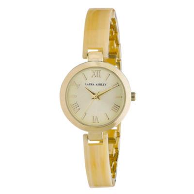 Laura Ashley Ladies Bone/Gold Resin Link Watch La31002Bn