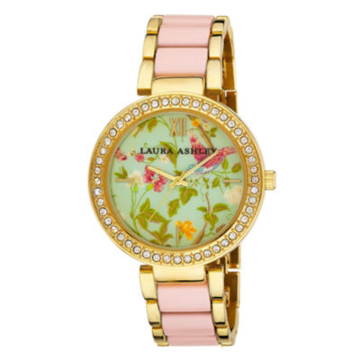 Laura Ashley Ladies Pink Summer Duck Egg Dial Watch La31007Pk