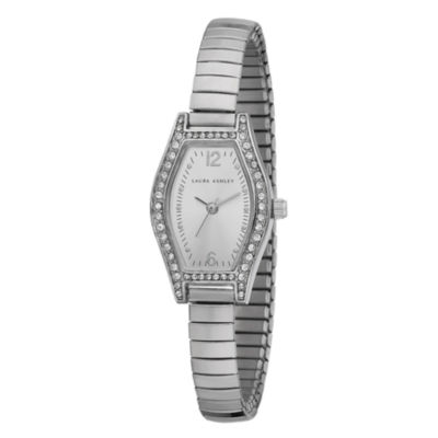 Laura Ashley Womens Silver Expandable Bracelet Watch La31010Ss