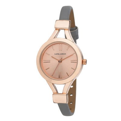 Laura Ashley Womens Gray Strap Watch-La31011rg