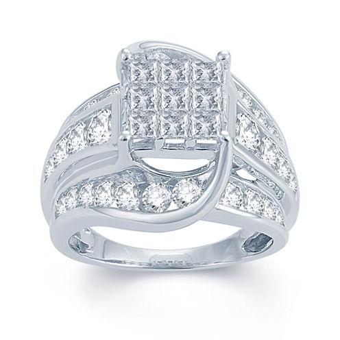 3 CT. T.W. Diamond 14K White Gold Engagement Ring